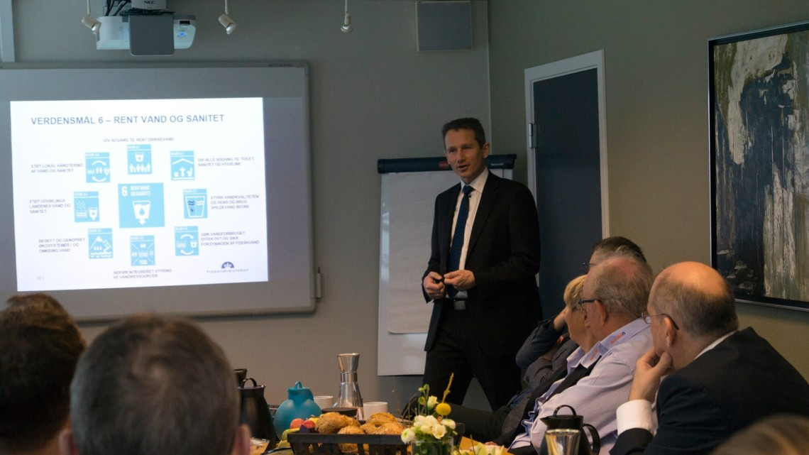 Godt medlemsmøde med Kristian Jensen om Verdensmålene