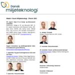 Møder i Dansk Miljøteknologi - efterår 2021
