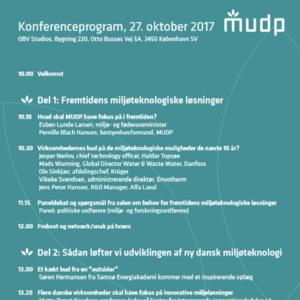 MUDP konference om fremtidens miljøteknologi den 27.10.2017
